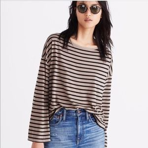 MADEWELL LIBRETTO WIDE-SLEEVE TOP IN STRIPE